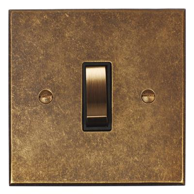 1 Gang Brass Retractive Grid Switch Bevelled