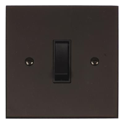 1 Gang Black Retractive Grid Switch Bevelled