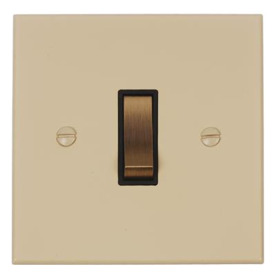 1 Gang Brass Two Way & Off Switch Bevelled