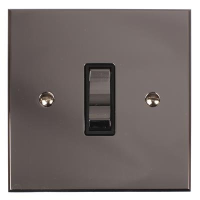 1 Gang Chrome Two Way & Off Switch with Nickel Bevelled Plate