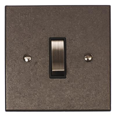 1 Gang Steel Two Way & Off Switch Bevelled