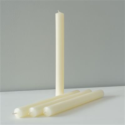 Set of 4 Beeswax Dinner Candles 22x230mm