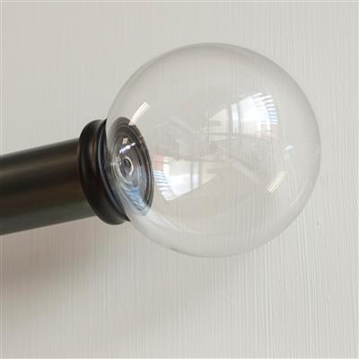 38mm Clear Glass Ball Finial