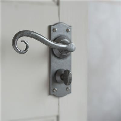 Scrolled Handle with Nowton Privacy Backplate