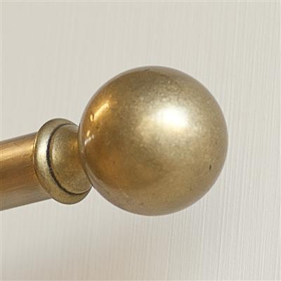 19mm Brass Ball Finial in Antiqued Brass