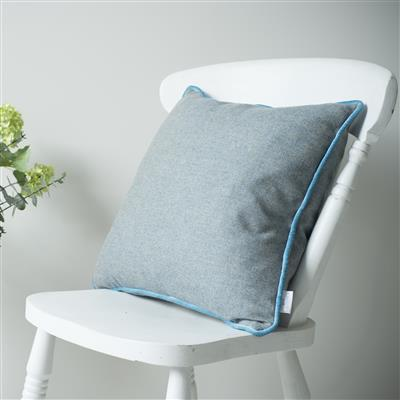 Herringbone Lovat Tweed Cushion Cover in Blue