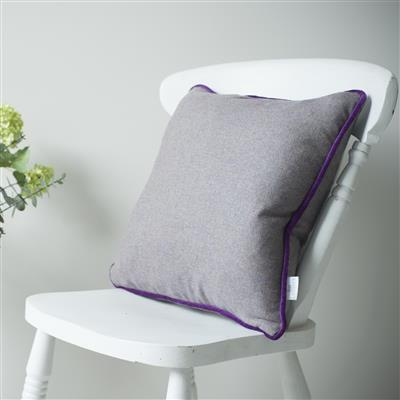 Herringbone Lovat Tweed Cushion Cover in Heather