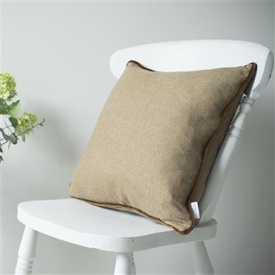 Herringbone Lovat Tweed Cushion Cover in Bracken