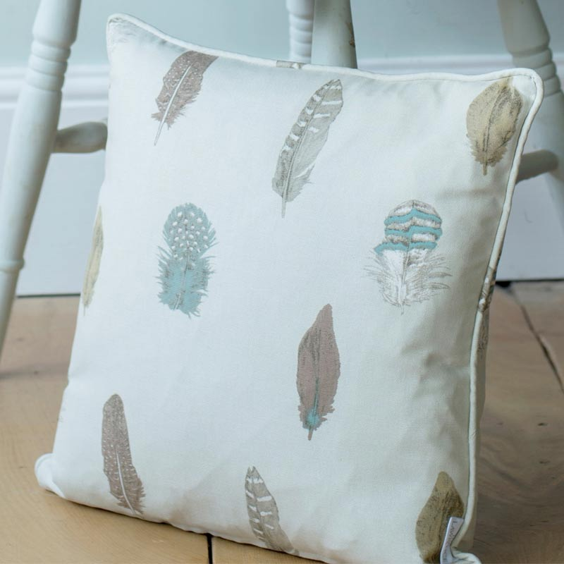 Featherdown in Stone Cushion Cover
