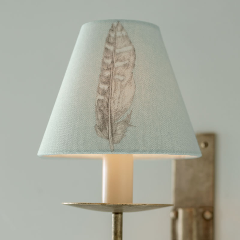 Featherdown Duck Egg Blue Candle Shade