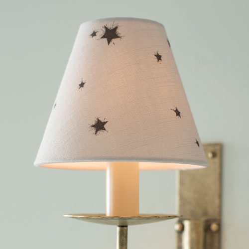Candle Shade in Soft Grey Little Star