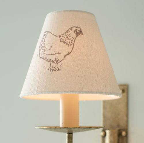 Candle Shade in Natural Sussex Hen