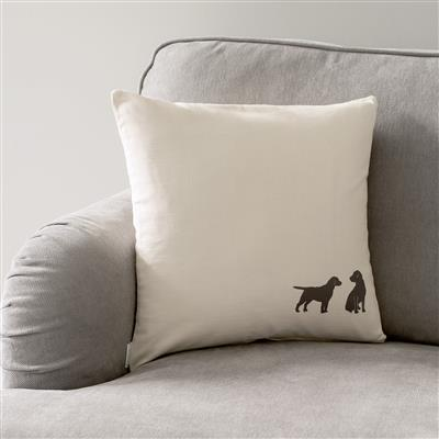 Best Friends Cushion Cover in Natural