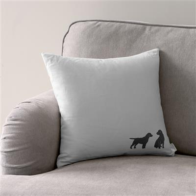 Best Friends Cushion Cover in Soft Grey