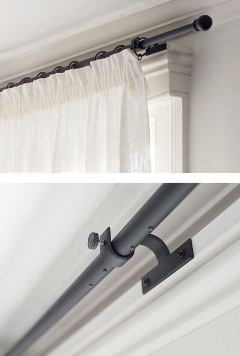 Bay window pole and passing bracket
