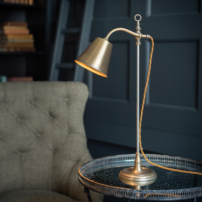 Abercrombie Table Lamp in Antiqued Brass