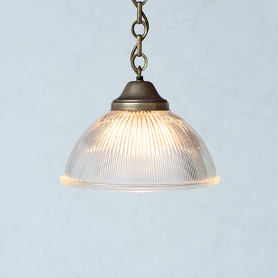 Foster Glass Pendant Light in Antiqued Brass