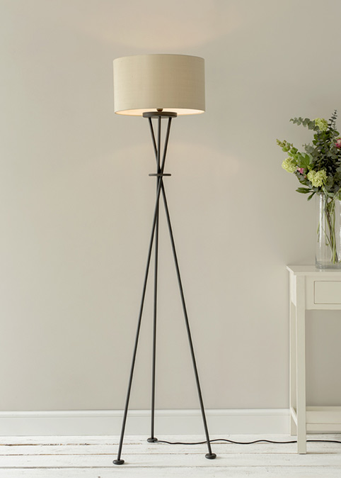 Lifestyle floor lamps and shades