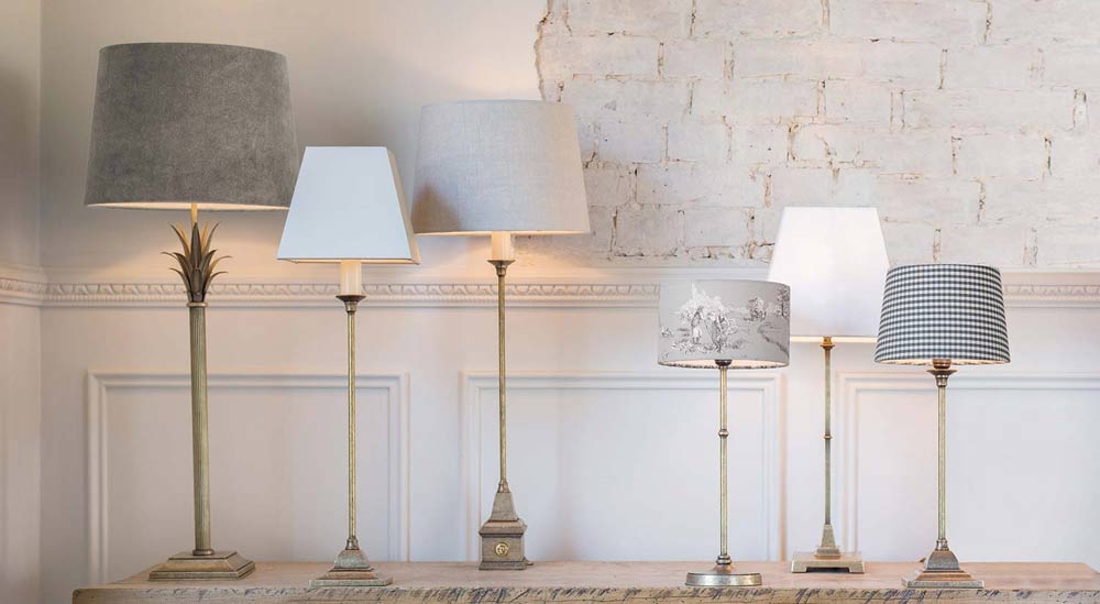 Table lamp collection lifestyle