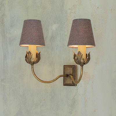 Double Tulip wall light