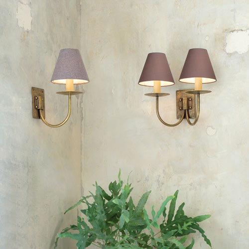 Candle clip shades on wall lights