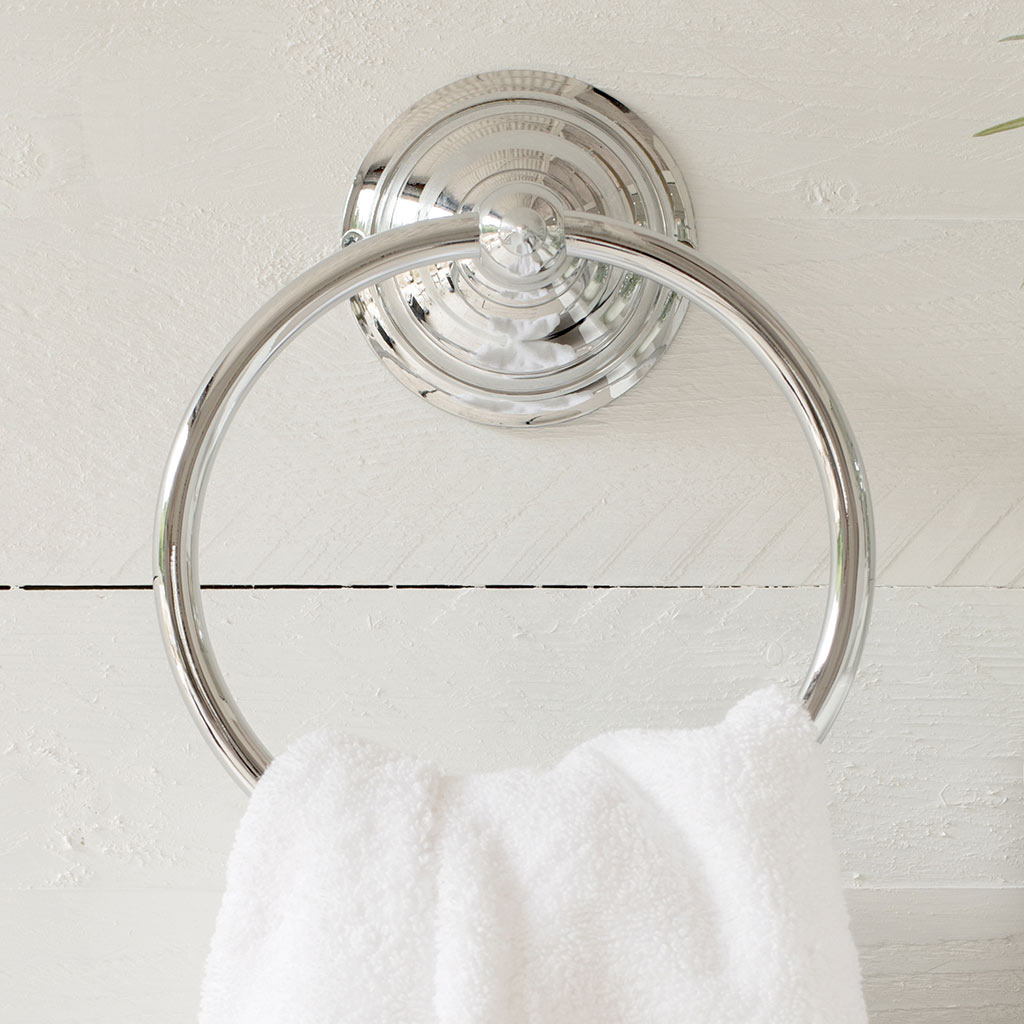 Stratford Towel Ring in Nickel