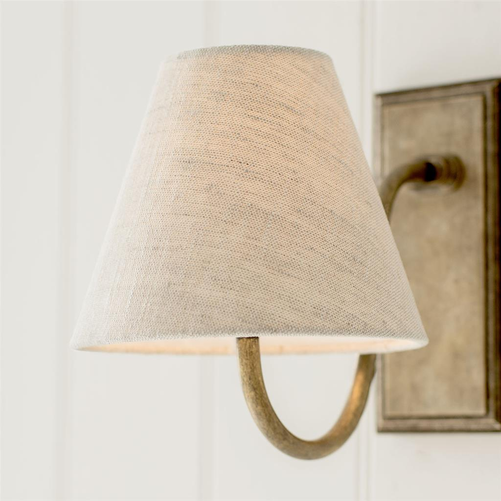 Bathroom Candle Shade in Natural Isabelle Linen