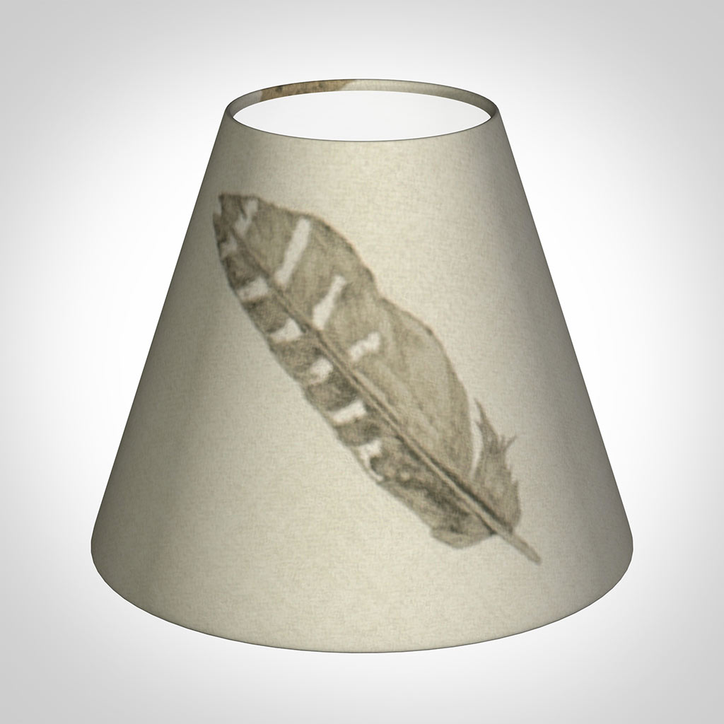 Candle Shade in Stone Featherdown