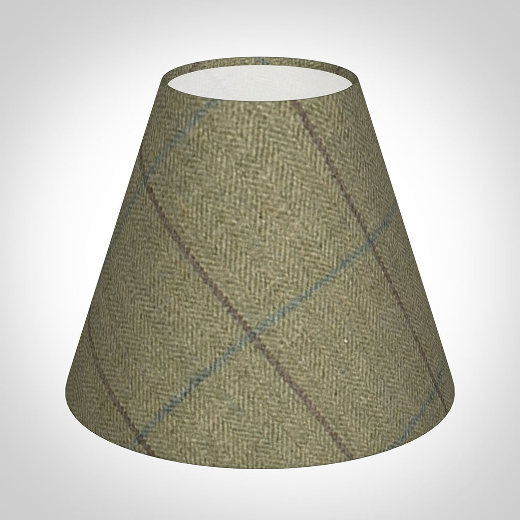 Candle Shade in Talisker Check Lovat Wool