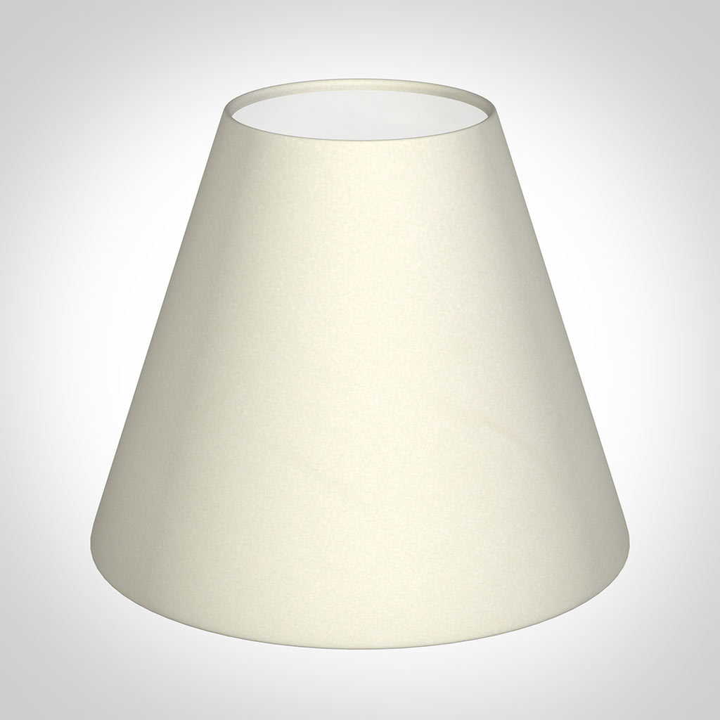 Candle Shade in Cream Satin