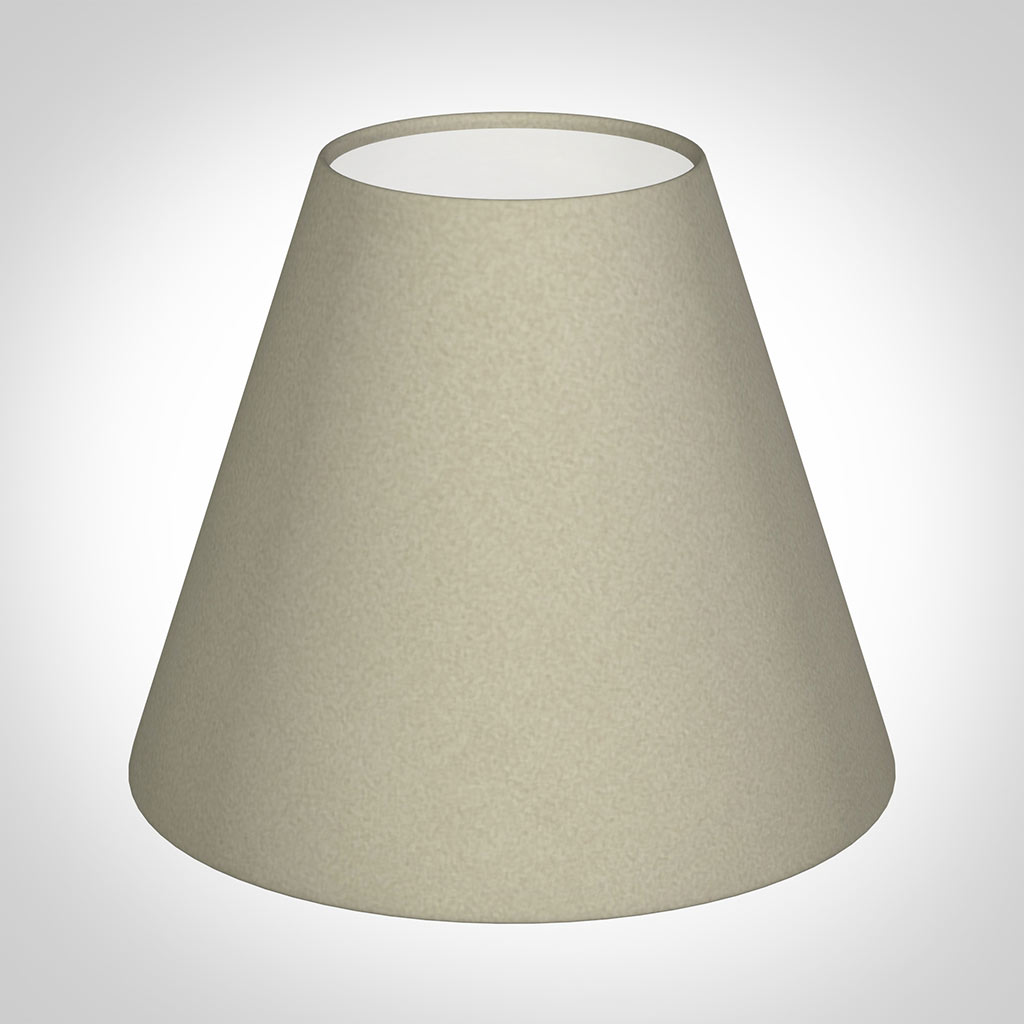 Candle Shade in Pale Smoke Satin