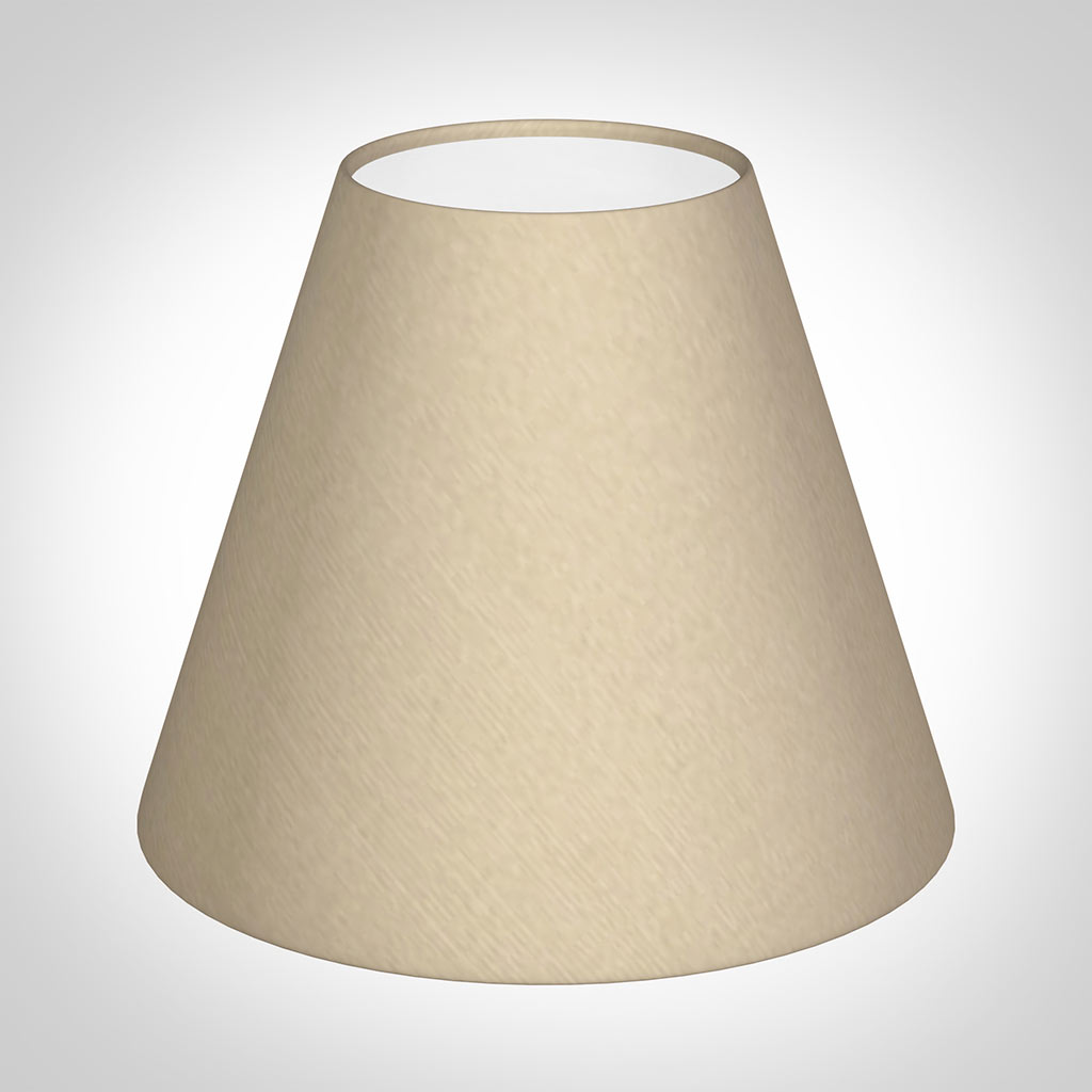 Candle Shade in Royal Oyster Silk
