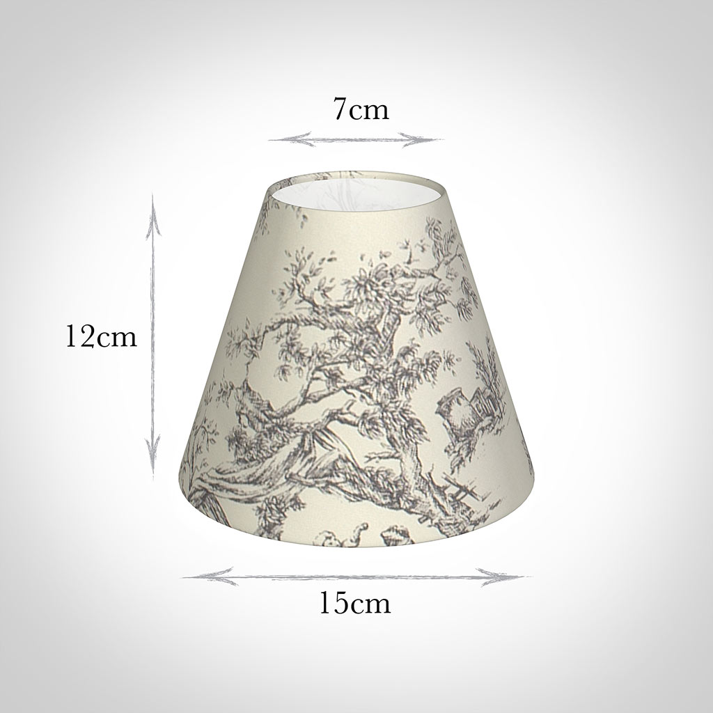 Candle Shade in Ash Toile De Jouy(discontinued, only stock shown available)