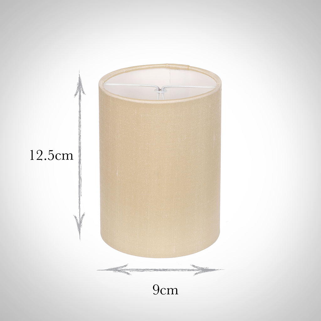 Cylinder Candle Shade in Buttermilk Silk