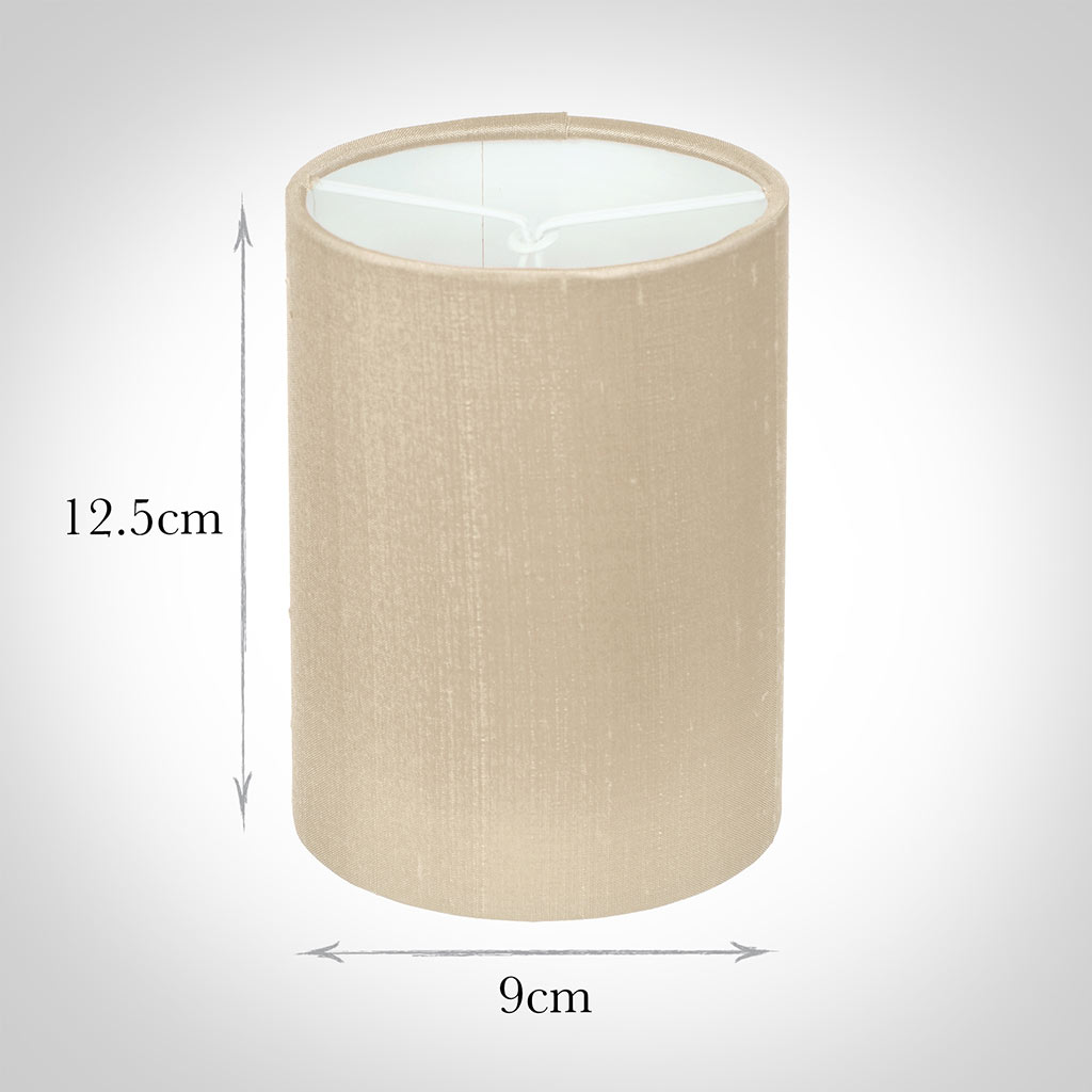 Cylinder Candle Shade in Royal Oyster Silk