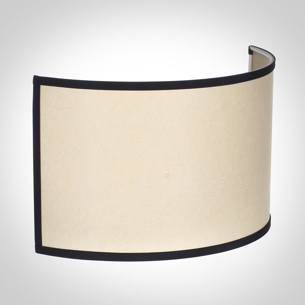 32cm Carlyle Half Shade in Parchment with Black Trim
