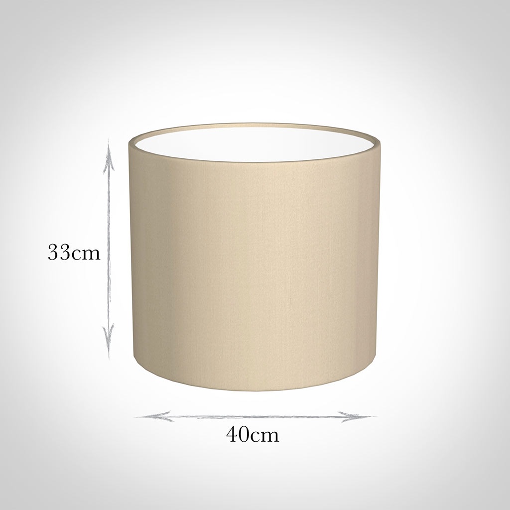 40cm Medium Cylinder Shade in Royal Oyster Silk
