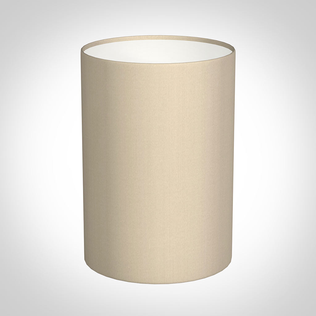 25cm Narrow Cylinder Shade in Royal Oyster Silk
