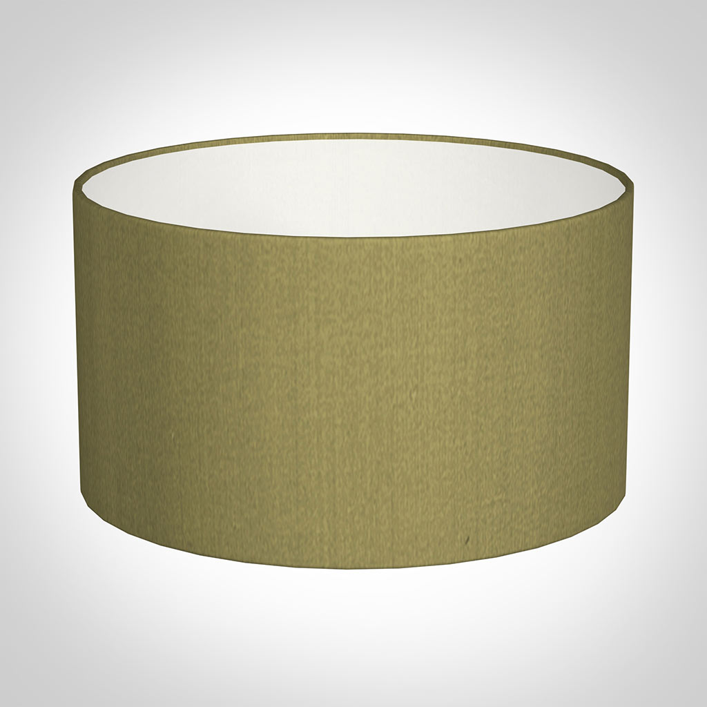 25cm Wide Cylinder Shade in Antique Gold Silk