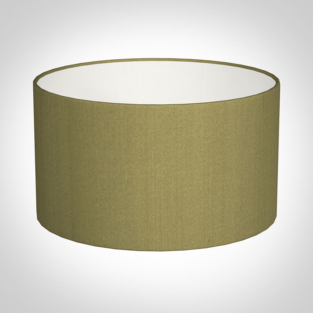 30cm Wide Cylinder Shade in Antique Gold Silk