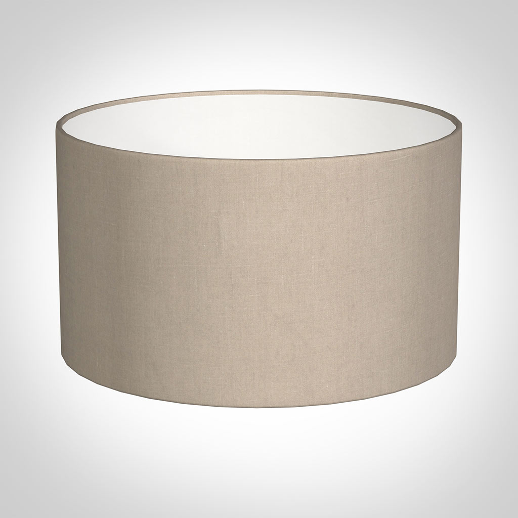 40cm Wide Cylinder Shade in Putty Killowen Linen