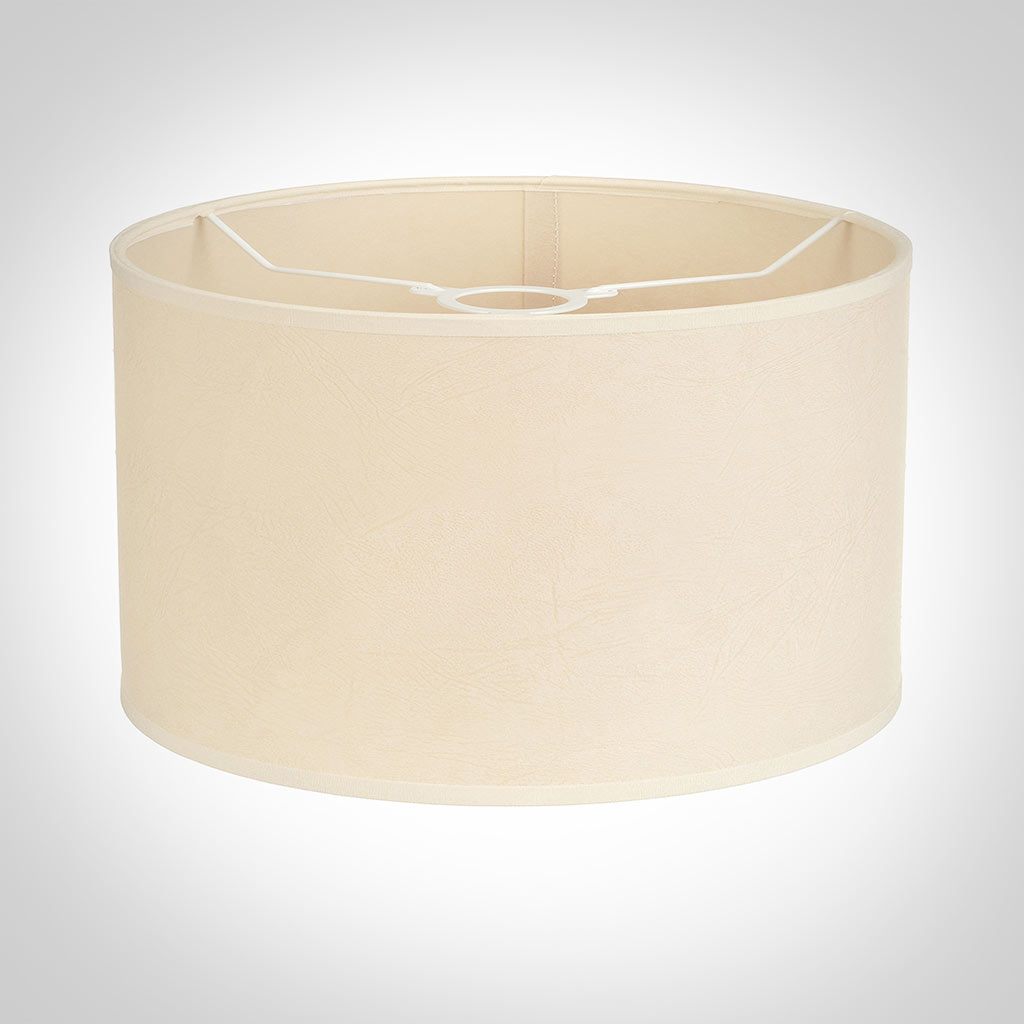 40cm Wide Cylinder Shade in Parchment with CreamTrim