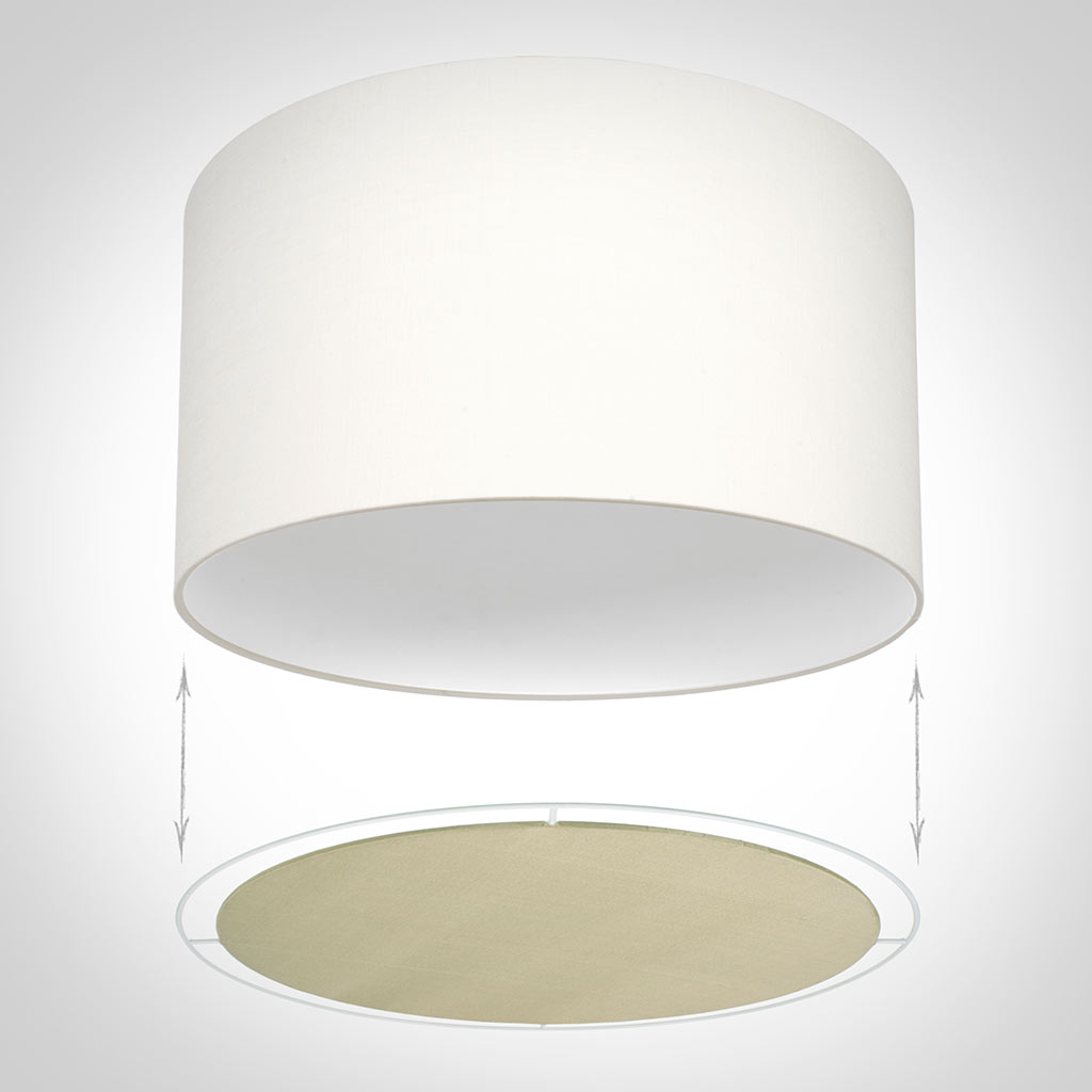 Diffuser for 30cm Cylinder Shade in Royal Oyster Silk