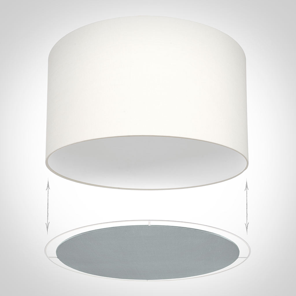 Lamp Shade Diffusers In French Grey Silk Cylinder Shade