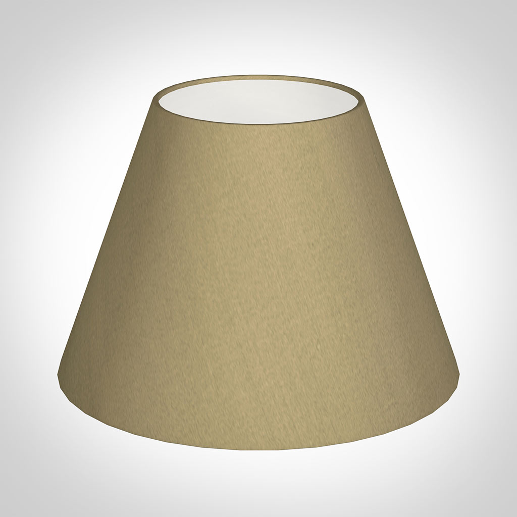 25cm Empire Shade in Oyster Faux Silk