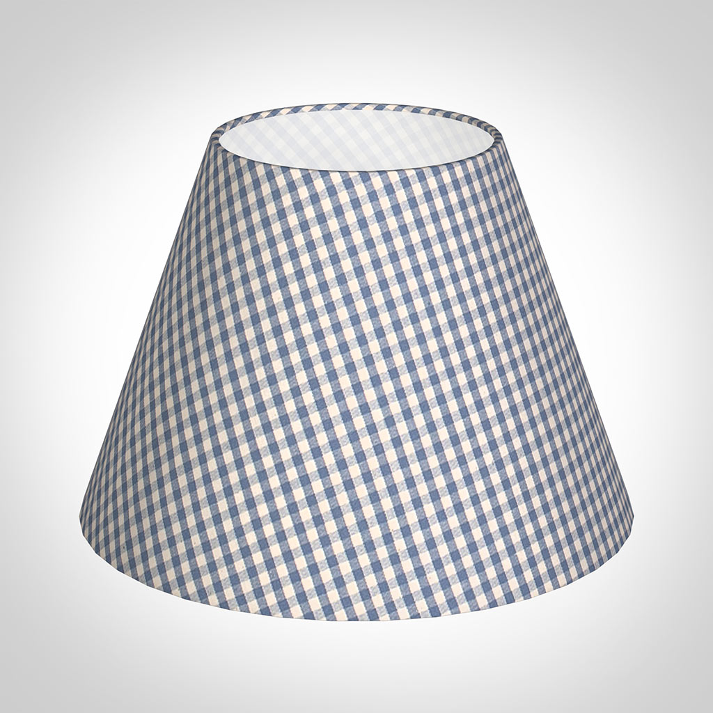25cm Empire Shade in Azure Blue Gingham