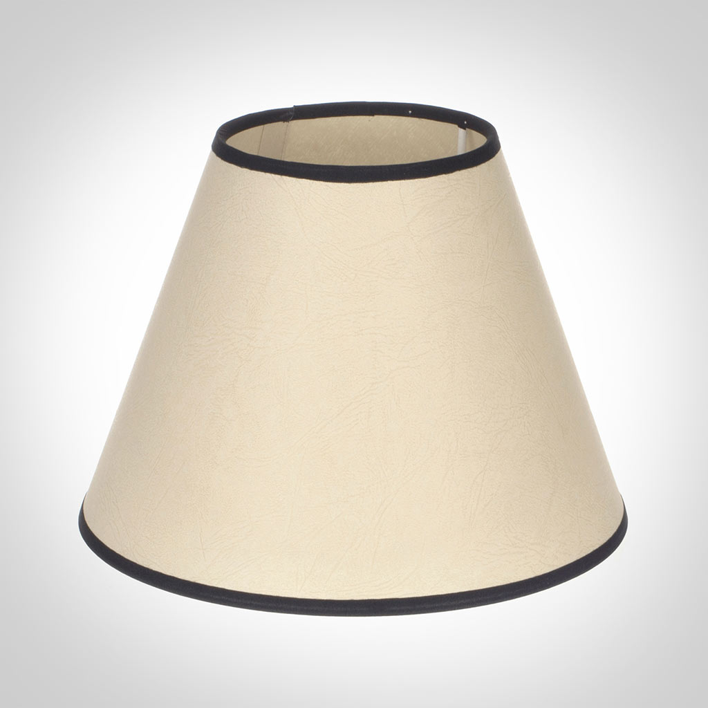 25cm Empire Shade in Parchment with Black Trim