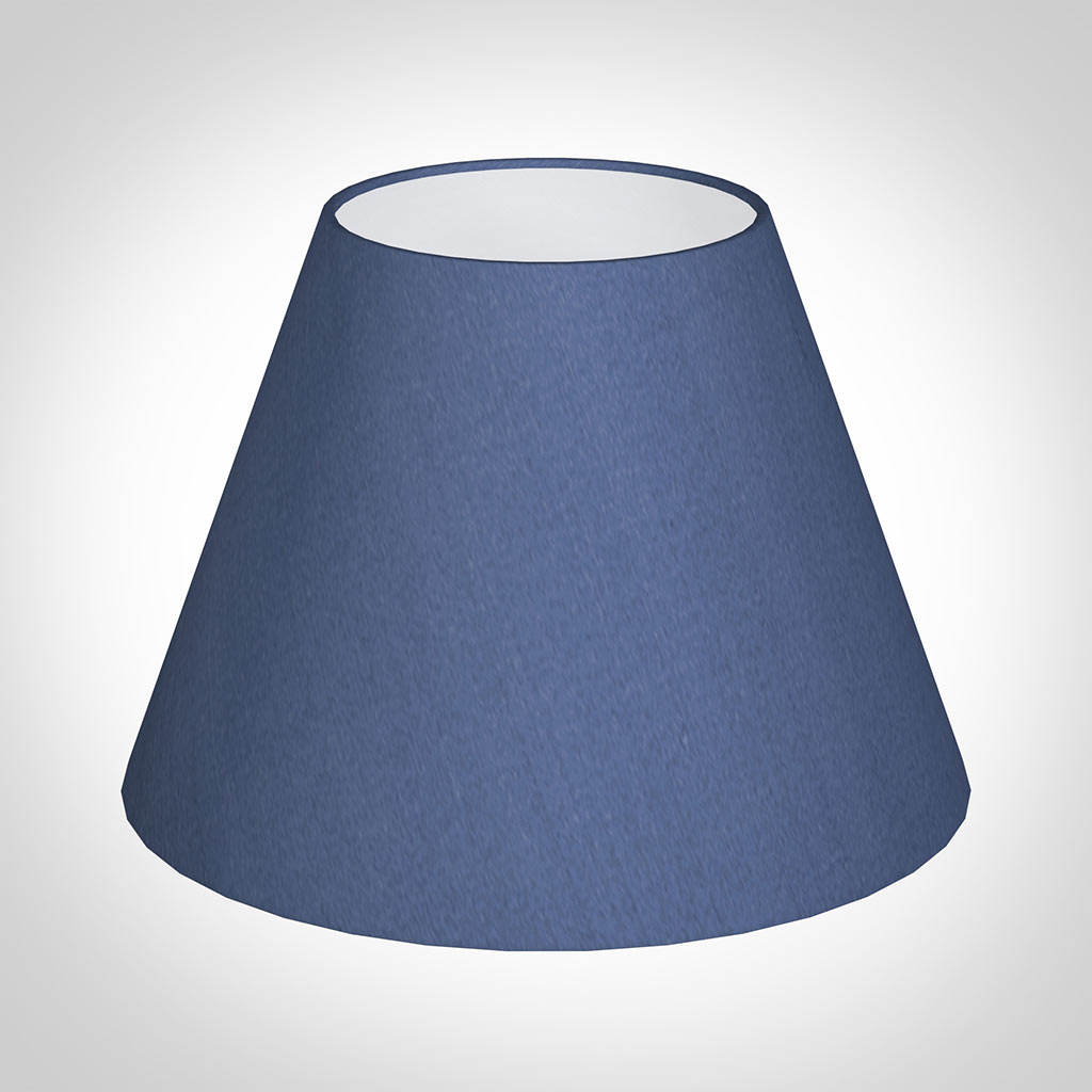 25cm Empire Shade in Slate Blue Silk