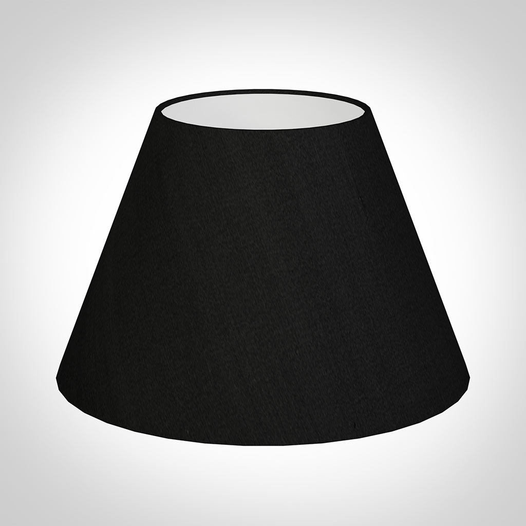 40cm Empire Shade in Black Silk