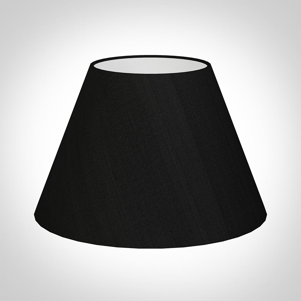 50cm Empire Shade Black Silk Lampshade